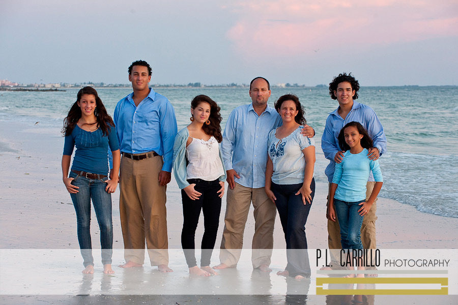 The P Family At Sunset Beach St Petersburg Family
